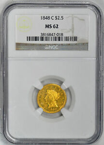 Click now to see the BUY IT NOW Price! 1848 C LIBERTY HEAD $2.5 NGC MS 62