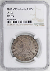Click now to see the BUY IT NOW Price! 1832 CAPPED BUST 50C NGC MS 65