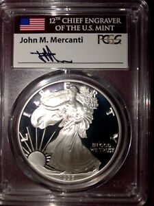 Click now to see the BUY IT NOW Price! SILVER EAGLE DATE RUN PF70 DCAM 1986 2019 WITH THE 1995 W   MERCANTI FLAG LABEL