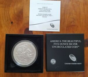 Click now to see the BUY IT NOW Price! 2017 P 5 OZ GEORGE ROGERS CLARK AMERICA THE BEAUTIFUL FIVE OUNCE SILVER COIN