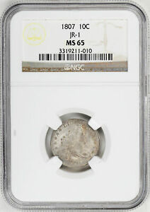 Click now to see the BUY IT NOW Price! 1807 DRAPED BUST 10C NGC MS 65