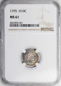 1795 FLOWING HAIR H10C NGC MS 61