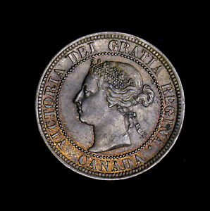 1891 CANADA LARGE CENT LL LD OBV 2 AU HIGH GRADE SOME ORIGINAL LUSTER