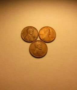 1950 P;1950 D;1950 S LINCOLN WHEAT CENTS F09    BETTER DATE     EXACT COINS