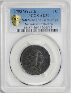 Click now to see the BUY IT NOW Price! 1793 WREATH 1C PCGS AU 50