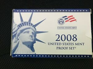2008  PROOF SET REPLACEMENT BOX  ONLY   NO COINS