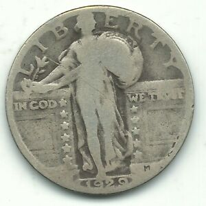 A NICE VINTAGE 1929 P STANDING LIBERTY QUARTER OLD US COIN OCT350