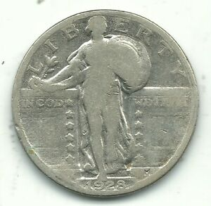 A NICE VINTAGE 1928 P STANDING LIBERTY QUARTER OLD US COIN OCT352