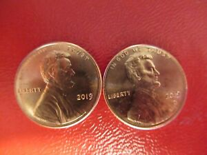 2019 P D LINCOLN CENTS BU