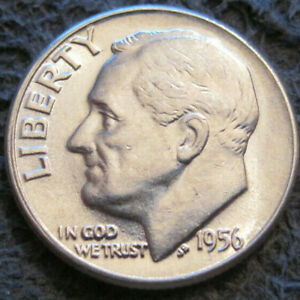 AS SHOWN   1956 P ROOSEVELT DIME // 90   SILVER // 153