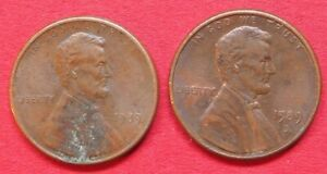 U.S.A. VINTAGE COLLECTABLE PAIR  LINCOLN ONE CENT COINS 1989 & 1989D GOOD GRADES