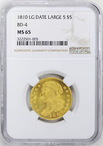Click now to see the BUY IT NOW Price! 1810 CAPPED BUST $5 NGC MS 65