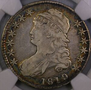 Click now to see the BUY IT NOW Price! 1819/8 BUST HALF DOLLAR O 102 NICELY TONED ORIGINAL NGC VF 20