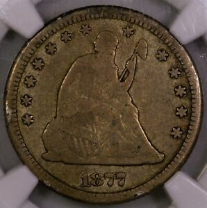 Click now to see the BUY IT NOW Price! 1877 CC SEATED LIBERTY QUARTER NGC F15