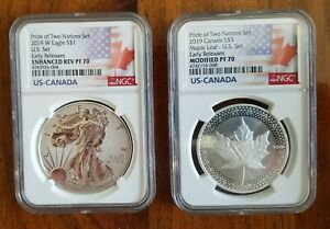 Click now to see the BUY IT NOW Price! 2019 PRIDE OF TWO NATIONS LIMITED EDITION TWO COIN SET NGC 70 ER