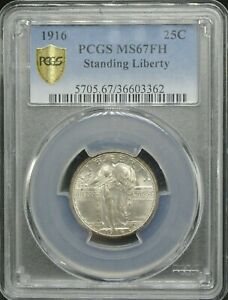 Click now to see the BUY IT NOW Price! 1916 STANDING LIBERTY 25C PCGS MS 67 FH
