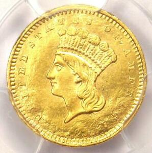 1858 S INDIAN GOLD DOLLAR  G$1 COIN    PCGS UNCIRCULATED DETAIL  UNC MS DAMAGE