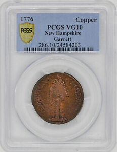 Click now to see the BUY IT NOW Price! 1776 COPPER NEW HAMPSHIRE PCGS VG 10