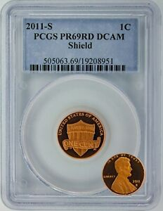 2011 S LINCOLN SHIELD CENT   PCGS CERTIFIED PR69RD DCAM