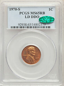 Click now to see the BUY IT NOW Price! 1970 S 1C DOUBLED DIE OBVERSE SAN FRANCISCO LINCOLN CENT PCGS MS65 RB LD DDO CAC