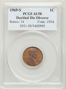 Click now to see the BUY IT NOW Price! 1969 S 1C DOUBLED DIE OBVERSE SAN FRANCISCO LINCOLN CENT PCGS AU58 BN DDO