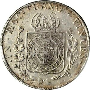 Click now to see the BUY IT NOW Price! 1826 B BRAZIL 960 REIS PCGS AU DETAILS TOOLED KM 368.2