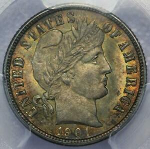 1901 BARBER DIME PCGS MS64   GREAT TONING    DOUBLEJCOINS  2000 80
