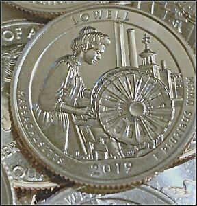 2019 D P S LOWELL AMERICA THE BEAUTIFUL QUARTERS UNCIRCULATED