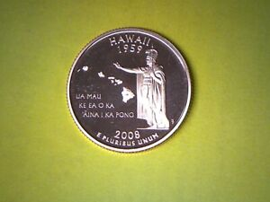 2008 S 25C HAWAII PROOF 50 STATES QUARTER