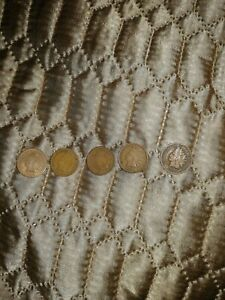 1888 1889 1899 1901 1905.COPPER NICKEL INDIAN HEAD CENTS.