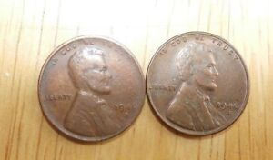 1946 D & 1946 S LINCOLN WHEAT CENTS PENNY GOOD CIRCULATED CONDITION