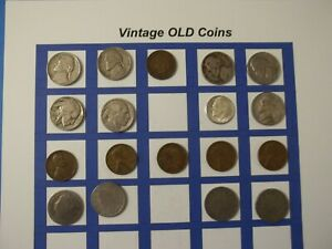 ESTATE LOT OF OLD COINS 50 TO 125 YEARS OLD WITH SOME SILVER  18 COINS   OC56