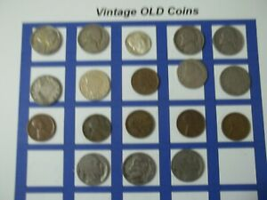 ESTATE LOT OF OLD COINS 50 TO 125 YEARS OLD WITH SOME SILVER  18 COINS   OC59