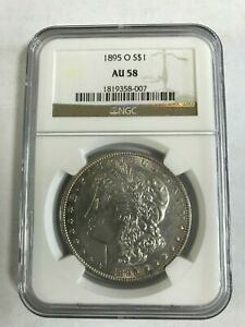1895 O MORGAN SILVER DOLLAR NGC AU58  405  GREAT COIN   LOW MINTAGE