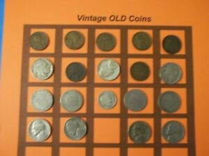ESTATE LOT OF OLD COINS 50 TO 125 YEARS OLD WITH SOME SILVER  19 COINS   OC44