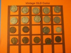 ESTATE LOT OF OLD COINS 50 TO 125 YEARS OLD WITH SOME SILVER  19 COINS   OC45