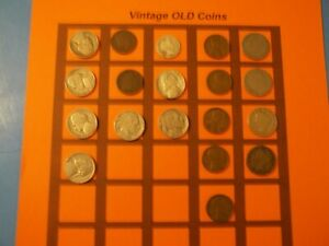 ESTATE LOT OF OLD COINS 50 TO 125 YEARS OLD WITH SOME SILVER  19 COINS   OC41