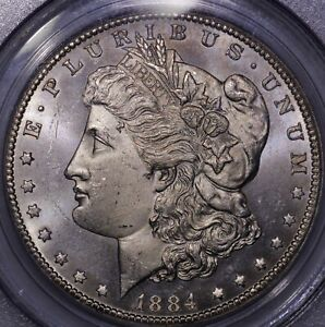 Click now to see the BUY IT NOW Price! 1884 CC MORGAN SILVER DOLLAR PCGS MS 64 PROOF LIKE NICE CAMEO EFFECT LOTS OF FR