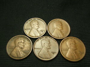 1918 S 1921 S 1924 S 1925 S 1927 S  ALL VF OR BETTER LINCOLN  CENTS