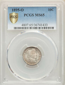 Click now to see the BUY IT NOW Price! 1895 O 10C NEW ORLEANS BARBER DIME PCGS MS65 GOLD SHIELD SECURE  KEY DATE