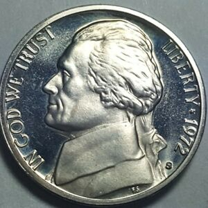 1972 S PROOF JEFFERSON NICKEL 5 CENTS BRILLIANT UNCIRCULATED COIN