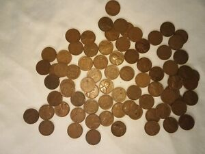 LINCOLN WHEAT CENT BROWN 78 LOT MIXED DATES
