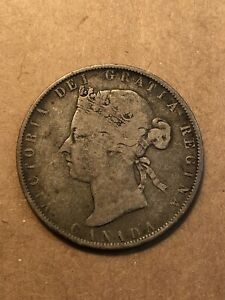 1881H CANADA 50 CENT G VG DETAILS KM 6
