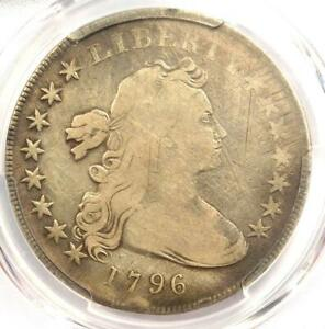 1796 SMALL EAGLE DRAPED BUST SILVER DOLLAR $1 COIN   CERTIFIED PCGS VG DETAIL