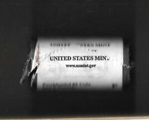 2015 P JOHN F. KENNEDY PRESIDENTIAL UNOPENED DAMAGED MINT DOLLAR 25 COIN ROLL