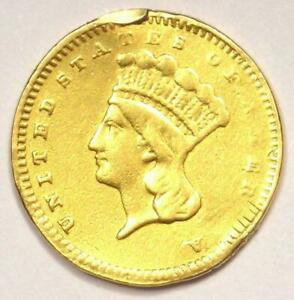 1857 S INDIAN DOLLAR GOLD COIN  G$1    XF DETAILS  EF