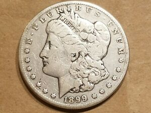 1899 O MORGAN SILVER DOLLAR LIBERTY HEAD $1 COIN AMERICAN EAGLE NICE