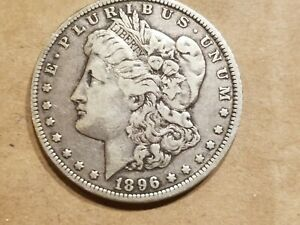 1896 O MORGAN SILVER DOLLAR LIBERTY HEAD $1 COIN AMERICAN EAGLE NICE