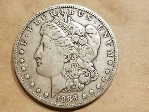 1888 MORGAN SILVER DOLLAR LIBERTY HEAD $1 COIN AMERICAN EAGLE NICE