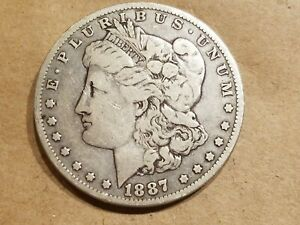1887 O MORGAN SILVER DOLLAR LIBERTY HEAD $1 COIN AMERICAN EAGLE NICE